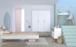 Detská izba pre dievča Linnea - dub sonoma / biela