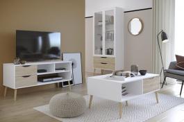 Obývacia izba Linnea II - dub sonoma / biela