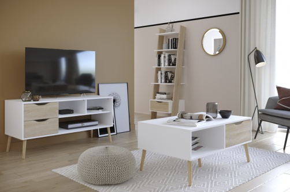 Obývacia izba Linnea I - dub sonoma / biela