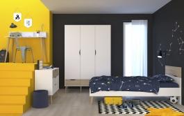 Študentská izba pre chlapca Linnea - dub sonoma / biela