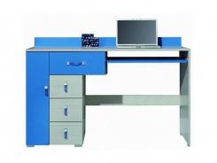 Písací stôl Adela XIII - jaseň/modrý