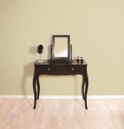 Toaletný stolík so zrkadlom Baroko - čierna/hnedá