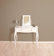 Toaletný stolík so zrkadlom Baroko - biela
