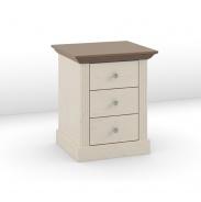 Nočný stolík Monako - biela/hnedá