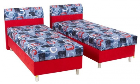 Čalúnená posteľ PAMELA 90x200 cm - pravá