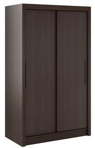 Šatníková skriňa Lisbeth I s posuvnými dverami - čokoláda/wenge