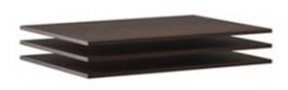 Doplnkové police k šatníkovej skrini Lisbeth II (3ks) - čokoláda/wenge
