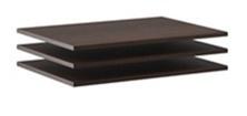 Doplnkové police k šatníkovej skrini Lisbeth I (3ks) - čokoláda/wenge