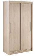 Šatníková skriňa Lisbeth I s posuvnými dverami - dub sonoma
