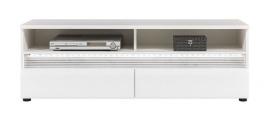 Televízny stolík Neo s osvetlením - biela / betón