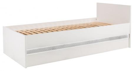 Detská posteľ Neo 90x200cm s úložným priestorom a osvetlením - biela / betón