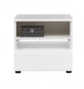 Nočný stolík Neo s osvetlením - biela/betón