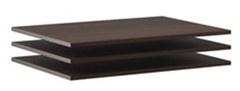 Doplnkové police k šatníkovej skrini Samanta (3ks) - čokoláda/wenge