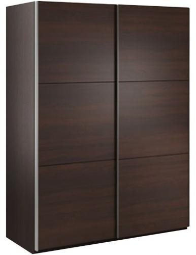 Šatníková skriňa Samanta s posuvnými dverami - čokoláda/wenge