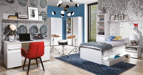 Študentská izba Neo - biela / betón