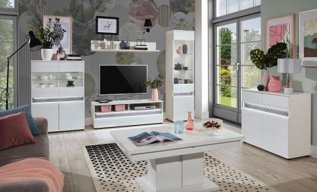 Obývacia izba Neo - biela / betón