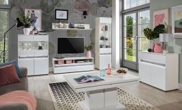 Obývacia izba Neo - biela/betón