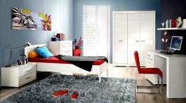 Studentský pokoj Snow II - bílý odstín