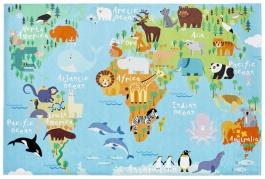 Detský koberec MAPA SVETA