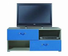 Televízny stolík Adela X - jaseň/modrý