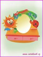Detské kaderníctvo lienka so zrkadlom