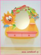 Detské kaderníctvo motýľ so zrkadlom