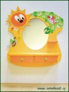 Detské kaderníctvo vtáčik so zrkadlom