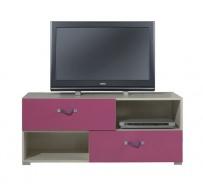 Televízny stolík Adela X - jaseň/ružový
