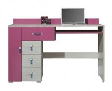 Písací stôl Adela XIII - jaseň/ružový