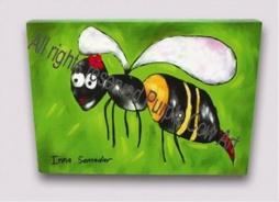 Dětský obrázek včelka