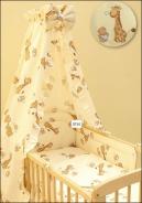 Detské obliečky do postieľky Žirafa béžovej
