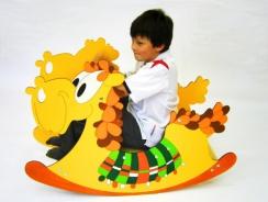 Houpací kůň žlutý