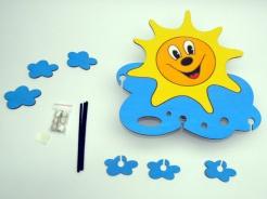 Dětská lampička sluníčko s mráčky