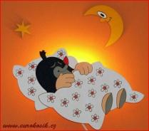 Dětská nástěnná lampička Krtek spící