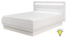Moderná posteľ Irma 140x200cm s osvetlením - biela