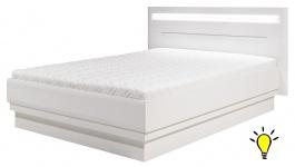 Manželská posteľ Irma 180x200cm s osvetlením - biela