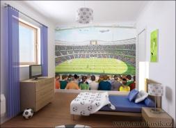 Dětská tapeta na zeď Fotbal