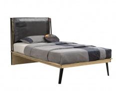 Studentská posteľ 120x200cm Gamora - dub zlatý/čierna