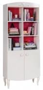 Detská knižnica Rosie - biela/rubínová