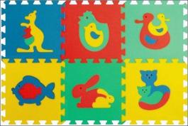 Penové puzzle koberec maxi 6 zvieratka