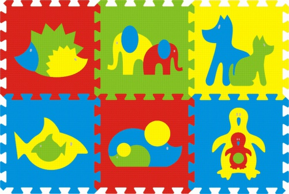 Pěnové puzzle koberec maxi 6 zvířátka 2