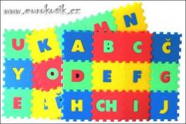 Penový koberec-písmená, 36 dielikov