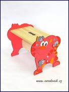 Detský stolček Mačka červená