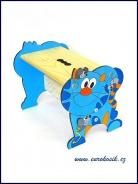 Detský stolček Mačka modrá