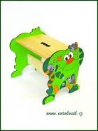 Detský stolček Mačka zelená