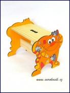 Detský stolček Mačka žltá