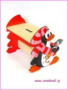 Detský stolček Tučniak červený