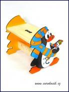 Detský stolček Tučniak modrý