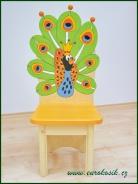 Dětská židle Páv