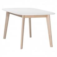 Jedálenský stôl Sissa - dub / biela